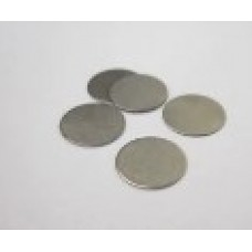 304SS Coin Cell Battery Spacer, Diameter: 15.8 mm, Thickness: 0.5 mm
